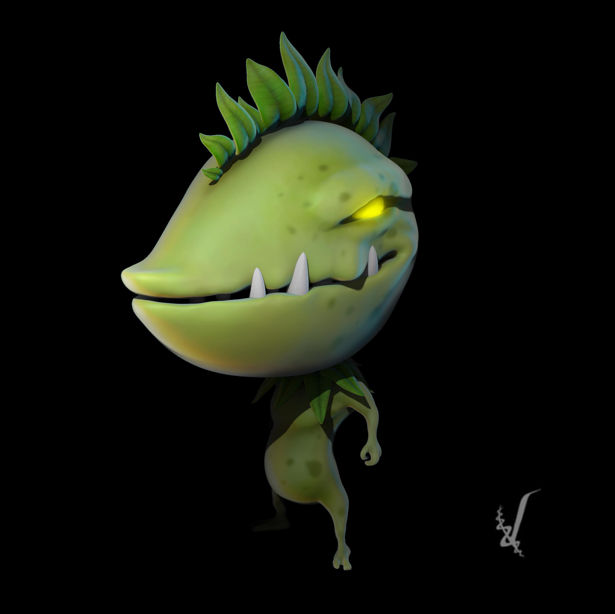 Seedius, 3D character, Brutal Brain